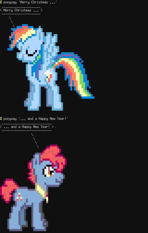 Screenshot of ponysay(1)
